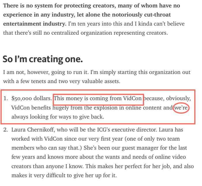 vidcon funding