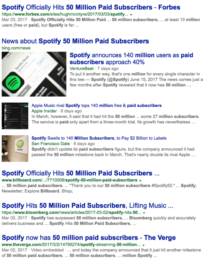 Spotify 50 Million Paid Press