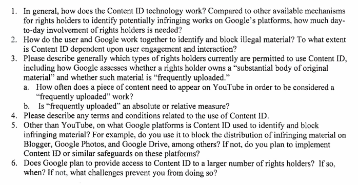 Google Hill Letter Excerpt